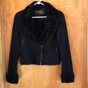 Ashley Faux Suede Cropped Jacket